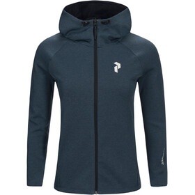 Peak Performance W's Pulse Zip Hood Blue Steel